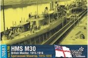 British Monitor HMS M30, 1/700